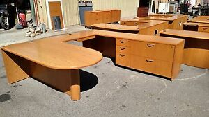 Desk U shaped 3 Piece Wood Creative Wood Products We Deliver Locally Nor Ca