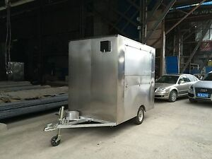 New Stainless Steel Concession Stand Trailer Mobile Kitchen 3 Fryer Ship By Sea