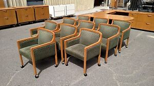conference Room Or Guest Chairs Wood 4 legged casters wheels Wedeliverlocallyca