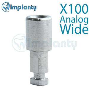 100x Implant Analog For Wide Platform Fit With Ab Alpha Bio Mis Zimmer Adin