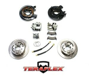 Teraflex Rear Disc Brake Conversion Kit W Rotors For 87 90 Jeep Yj 84 88 Xj