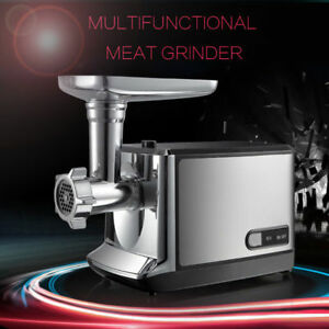 110v 2000w Electric Meat Grinder Stainless Steel Inductrial Kibbe Sausage Making