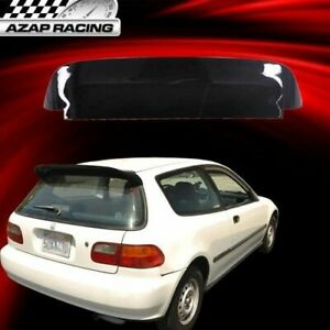 Fits 92 1995 Sp Style Roof Spoiler Wing Gloss Blk Abs Honda Civic 3dr Hatchback
