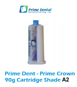 Prime Dent Temp Crown Bridge Materia 1 X 90g Cartridge Refill Shade A2
