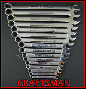 Craftsman Hand Tools 16pc Lot 12pt Sae Combination Wrench Set Free Shipping