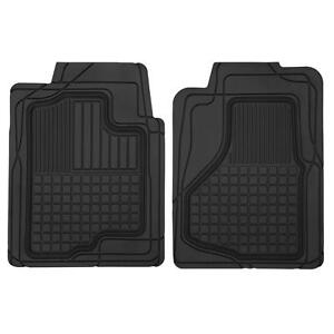 Motor Trend Trim To Fit Heavy Duty Car Floor Mats For Auto All Weather Black