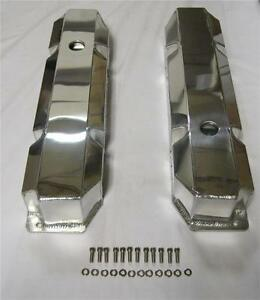 bb Mopar Chrysler Dodge Fabricated Aluminum Valve Covers 383 440 Polished