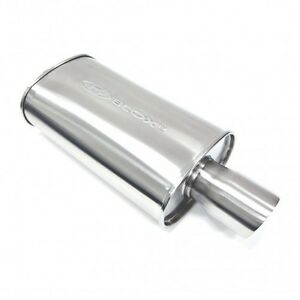 Blox Sl Sport Muffler Double wall Tip Brushed Silver 2 5 Universal Honda Acura