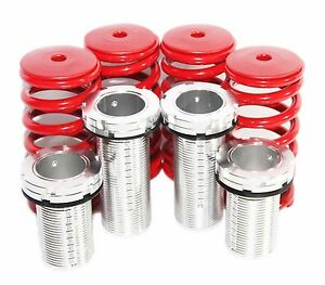 1 4 Red Silver 88 00 Honda Civic 94 01 Integra Coilover Lowering Springs Kits