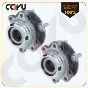 2 Pcs New Front Wheel Hub Bearing Assembly For 07 12 Nissan Altima W Abs 5 Lug