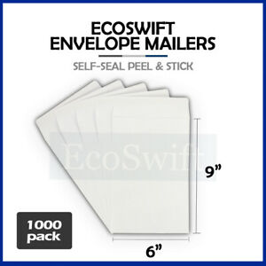 1000 White Self seal Catalog Mailing Shipping Kraft Paper Envelope 28 Lb 6 X 9
