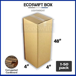 1 50 4x4x48 ecoswift Cardboard Packing Mailing Tall Long Shipping Box Cartons