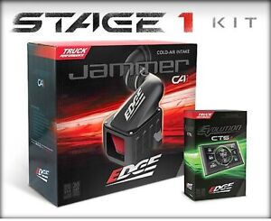 Edge 19021 Stage 1 Evolution Cts2 Jammer Cold Air Intake Kit For 03 07 Ford 6 0l