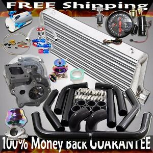 T3 t4 Turbo 3 Intercooler piping bov wastegate 4in1 Gauge High Performance Kits