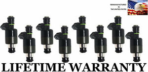 Oem 6 Hole Set Of 8 Fuel Injectors For Gmc Chevy 96 00 P30 K3500 K2500 7 4l