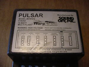 Pulsar Power Suppy Ettp475 Tested Guaranteed Runs 4 Strobes Sound Off