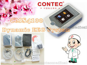 Contec Cms4100 Dynamic Eeg Mapping System 16 channel 24hr Brain Electric Machine