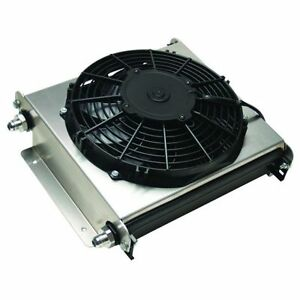 Derale 15870 Hyper cool Extreme 40 Row Remote Mount Fluid Coolers W Fan 8an