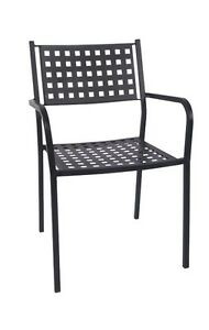 Lot Of 50 Restaurant Outdoor Patio Black Iron Stackable Chairs