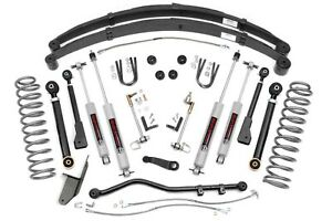 Rough Country 4 5 X series Lift Kit 1984 2001 Jeep Xj Cherokee 63330