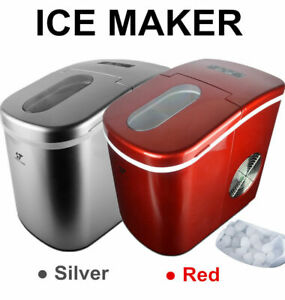 Portable Ice Cube Ice Maker Freestanding Countertop Ice Making Machine 26 Lb day