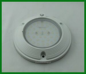Interior Dome Light 42 Led White Surface Mount 6 Round Pir Sensor 1000 Lumens