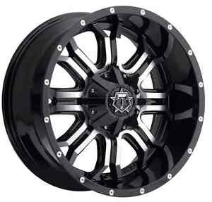 Tis 535mb 7906812 Single 17x9 Gloss Black W Machined Face 535mb 12 Offset Wheel