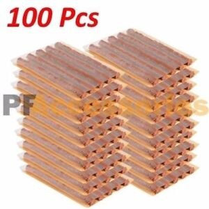 100 Pcs Tubeless Car Flat Tire Repair Plugs Strips Refill 4 X 1 4 Inch Bulk