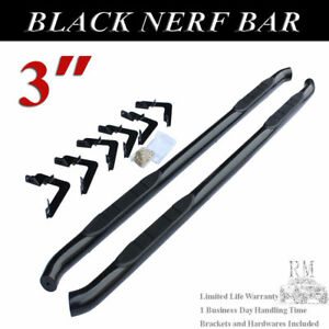 For 2005 2019 Toyota Tacoma Access Extended Cab 3 Black Nerf Bar Side Step