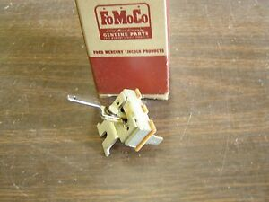 Nos Oem Ford 1955 1959 Fairlane Heater Switch 1956 1957 1958 Recirculating