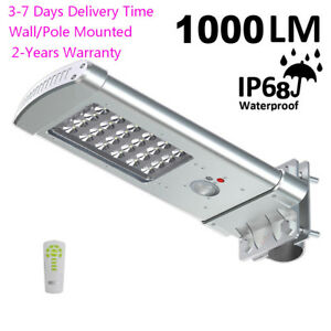1000lm Commercial Solar Street Light Outdoor Waterproof Motion Sensor Lights