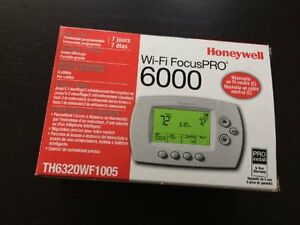 Honeywell Wi fi Pro 6000 Thermostat 3heat 2cool 7 Day Programmable Th6320wf1005