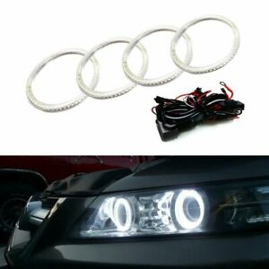 7000k Xenon White Led Angel Eye Halo Rings Kit For 2007 08 Acura Tl Or Tl Type s