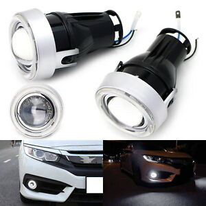 Direct Fit Led Halo Angel Eyes Projector Fog Lights Kit For 2016 up Honda Civic