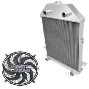 1941 Ford Truck Flathead Configuration 3 Row Aluminum Champion Radiator