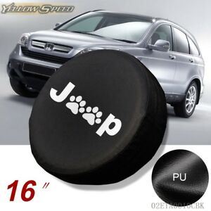 Black Paws Spare Tire Wheel Cover Protrctor For Jeep Cherokee 29 30 31 L