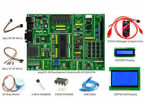 Pic Development Board Easypic 40 Kit Kit3 lcd1602 lcd12864 ds18b20 step Motor