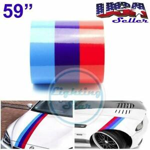 59 M Colored Stripe For Bmw Sticker Decal Racing Cosmetic Hood Roof Bumper