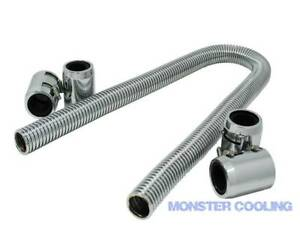 1947 Ford Coupe Radiator Hose Kit 48 Chrome With 4 Couplings