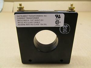 1 New Instrument Transformers 5asht 251 5asht251 Current Transformer Ratio 250 5