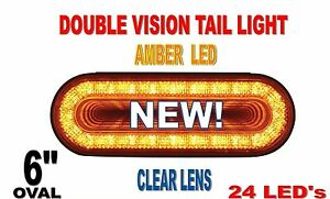24 Led 6 Oval Mirage Turn Signal Light Amber Clear Lens