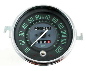 Vw Bug Bus Ghia Isp 120 Mph Speedometer W Trip Odometer Green Numerical Face