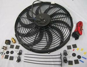 16 Extreme Duty S blade Electric Radiator Cooling Fan Thermostat Mount Kit