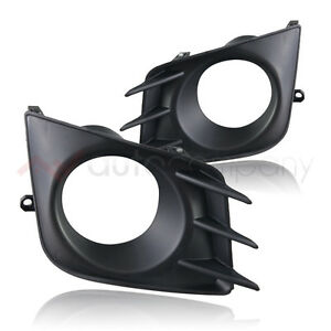 11 13 Scion Tc Fog Lights Bumper Driving Lamps Bezel Pair