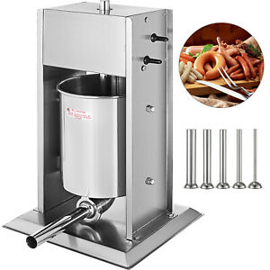 New Sausage Stuffer Vertical Stainless Steel 15l 33lb Pound Meat Filler Press