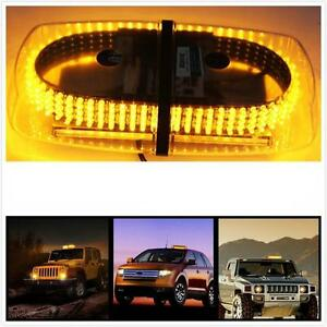 240 Leds Light Bar Roof Top Emergency Beacon Warning Flash Strobe Yellow Amber