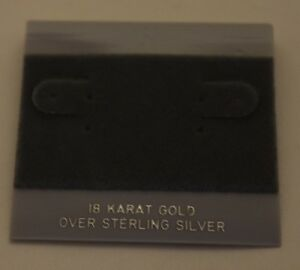 100ct Lot 18k Over Sterling Silver Plastic Holder Hanging Earrings Display Card