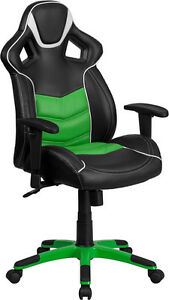 High Back Verde Mantis Green Vinyl Executive Swivel Office Chair