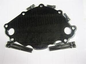 Small Block Ford Electric Water Pump Backing Plate Black Anodoized Sbf 289