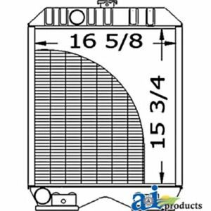 A sba310100600 Made To Fit Ford Tractor Radiator 1720 1920